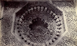 Richly carved roof-slab in the second storey of the roof of the Jami Masjid, Champaner